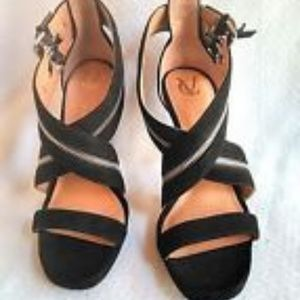 New Vince Camuto Black Suede Ankle Zip Stiletto